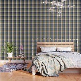 Chambray Fiord Swirly Plaid Wallpaper