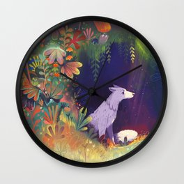In the Forest Shadows Wall Clock