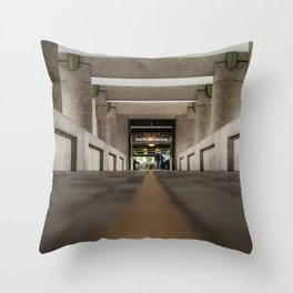Follow the yellow path, the Barbican, London Throw Pillow