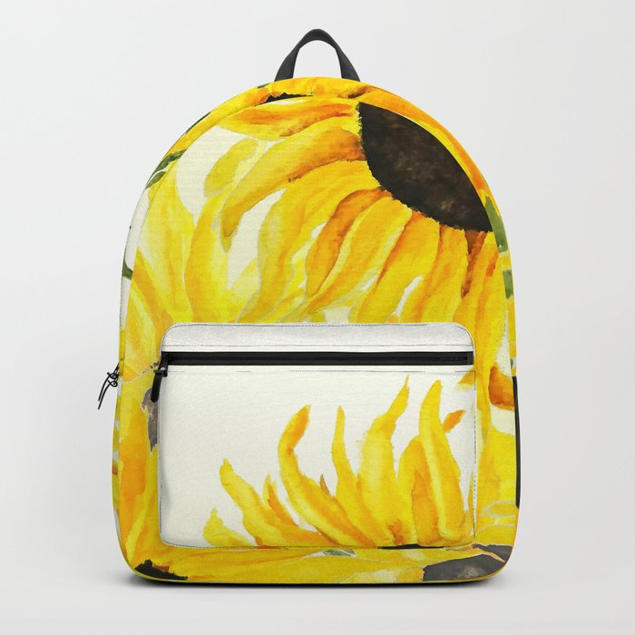 sunflower watercolor 2017 Backpack