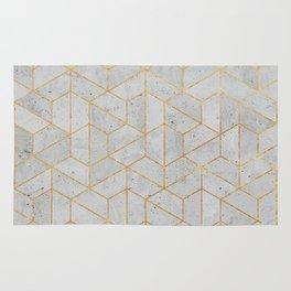 Concrete Hexagonal Pattern Rug