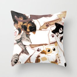 Let's Meow Together Throw Pillow