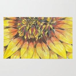 Giant Sunflower Rug