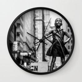 Fearless Girl New York City Wall Clock