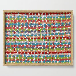 Speckled, Colorful Abstract Dot Pattern, Red, Blue, Green, Orange Serving Tray