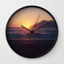 Crash into me - Romantic Sunset @ Beach #1 #art #society6 Wall Clock