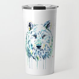 Arctic Wolf Travel Mug