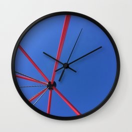 Red Against The Blue Sky Wall Clock