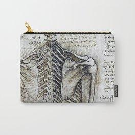 Leonardo Da Vinci human body sketches - skeleton Carry-All Pouch