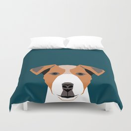 Bailey - Jack Russell Terrier phone case art print gift for dog people Jack Russell Terrier owners Duvet Cover
