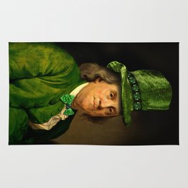 St Patrick's Day for Lucky Ben Franklin Rug