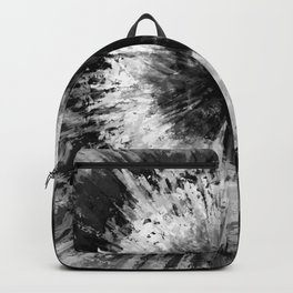 Black and White Tie Dye // Painted // Multi Media Backpack