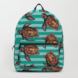 turtles in stripes Backpack