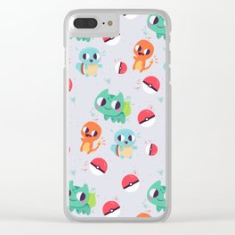 Pokeball pattern Clear iPhone Case