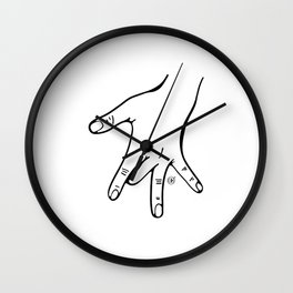 One finger Wall Clock