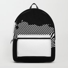 Venezuelan striped map - white Backpack