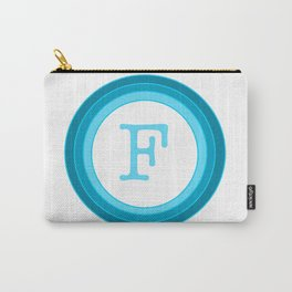 Blue letter F Carry-All Pouch
