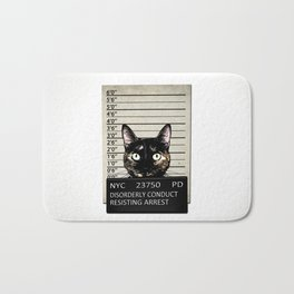 Kitty Mugshot Bath Mat
