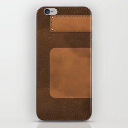 """A series of """"Covers for notebooks"""" . Brown leather. iPhone Skin"""