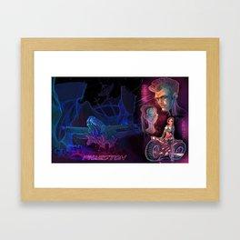 Retro 80´s Sci Fi poster Framed Art Print