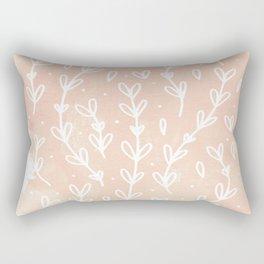 Blush Vines Rectangular Pillow