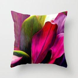 Ti Leaf Bouquet Throw Pillow