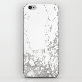 Gray white abstract modern marble pattern iPhone Skin