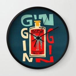 Gin Gin Gin Wall Clock