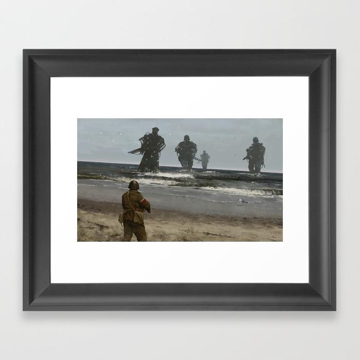 Westerplatte 1939 Framed Art Print by Mrwerewolf FRM3649150