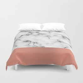 Marble & copper Duvet Cover