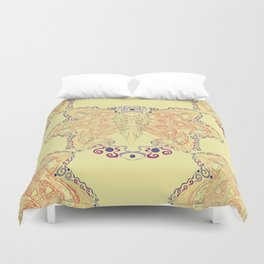 Atlantic Puffin ~ Yellow  Duvet Cover