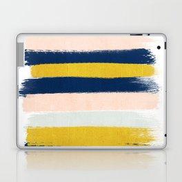 Stripes minimal trendy color palette gold silver metallic minimal home decor Laptop & iPad Skin