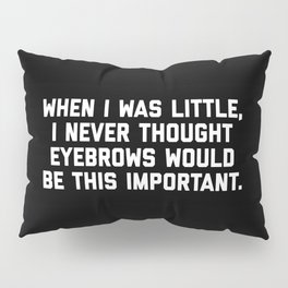 Eyebrows Are Important Funny Quote Pillow Sham