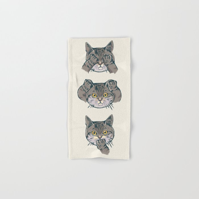 No Evil Cat Hand & Bath Towel