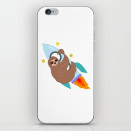 Space Bound Sloth iPhone Skin