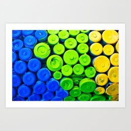 Lids and Tops Art Print