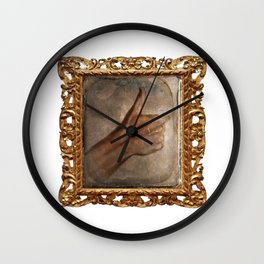 Daguerreotype Thumbs Up Wall Clock
