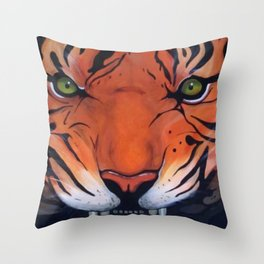 Tiger Eyes Throw Pillow