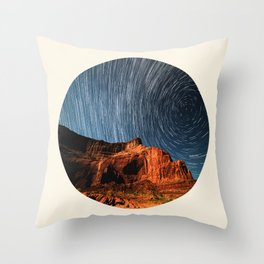 Long Exposure Of Spinning Stars Throw Pillow