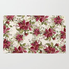 Poinsettia Pattern Rug