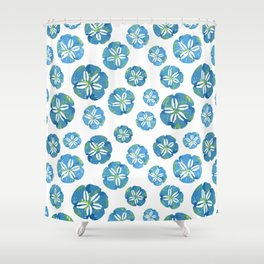 Blue Sand Dollars Shower Curtain