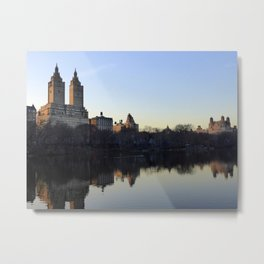 Central Park Lake in the Evening Metal Print