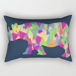 Abstract Rhino Rectangular Pillow