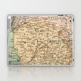 Vintage and Retro Map of India Laptop & iPad Skin