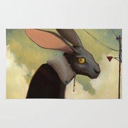 Melancholic rabbit Rug