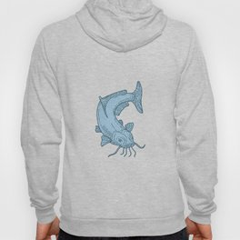 Catfish Mud Cat Diving Down Mono Line Hoody