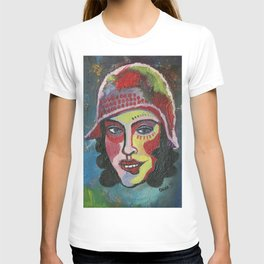 Woman with hat T-shirt