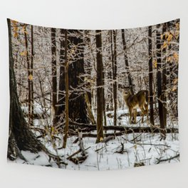 Deer in the Glistening Forest by Teresa Thompson Wall Tapestry