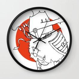 Hack It - Warrior Illustration Wall Clock