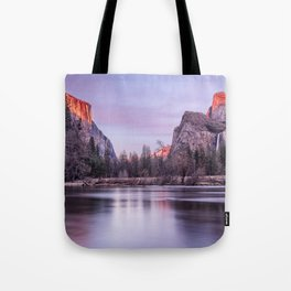 Yosemite National park sunset Tote Bag